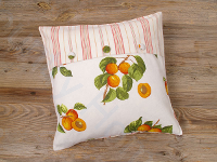 SP! Kissenh. 40x40cm MARILLEN/Streif orange/ivory